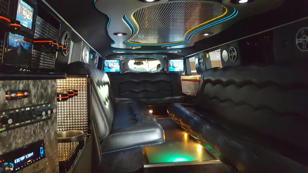 Interior of a limo