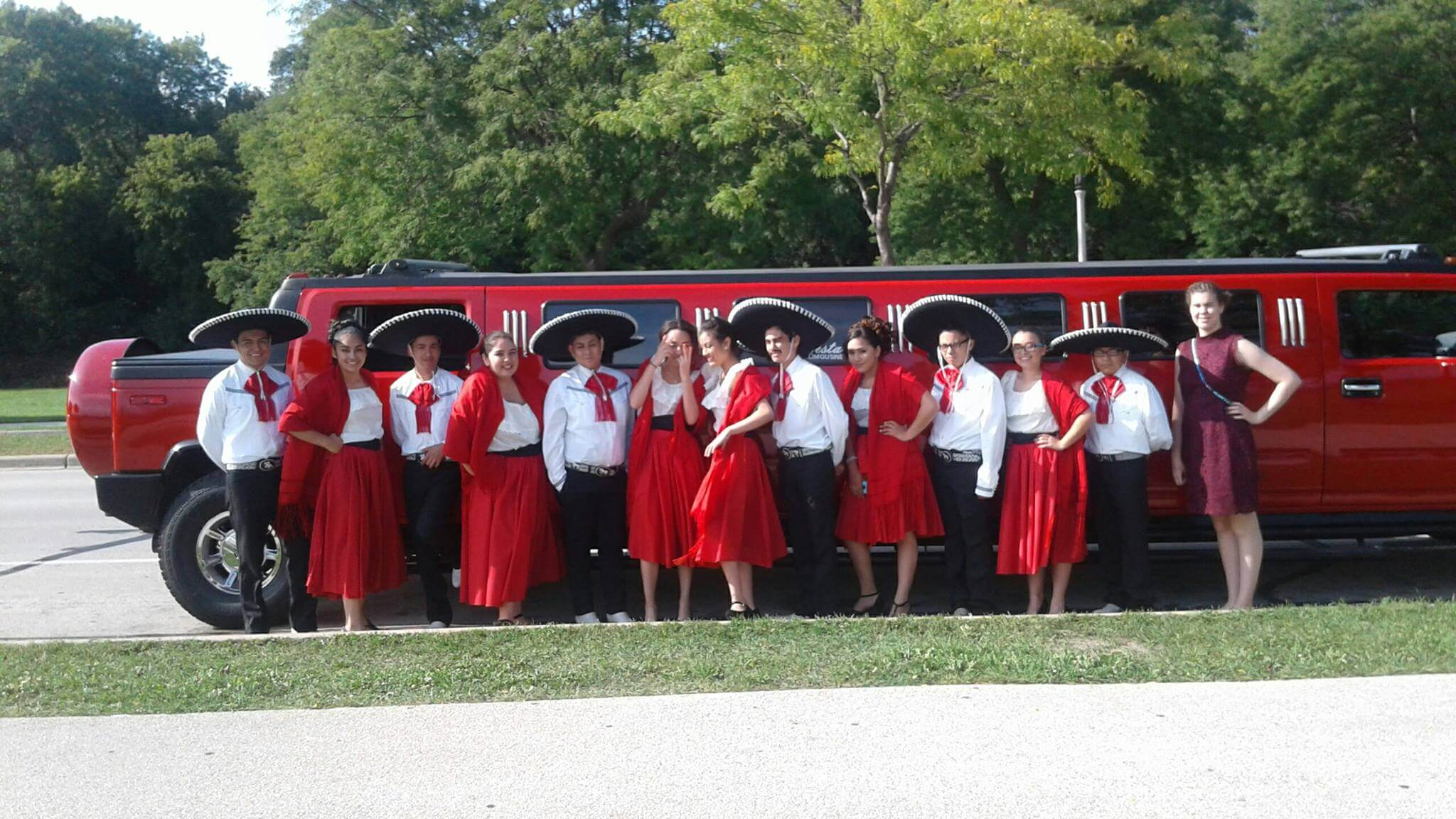 Red-Hummer-Limo-People-Celebrating