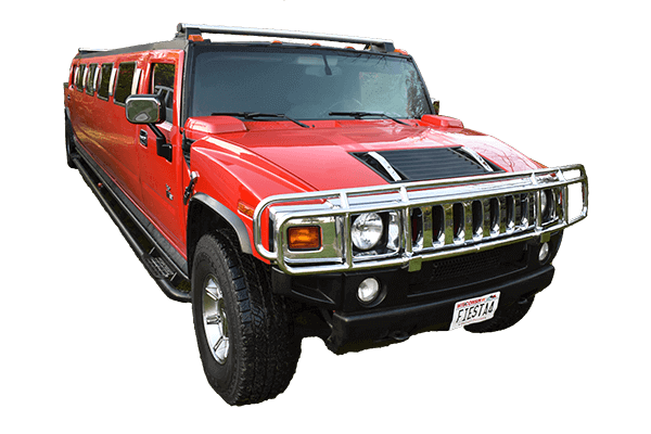 Red Hummer Limo